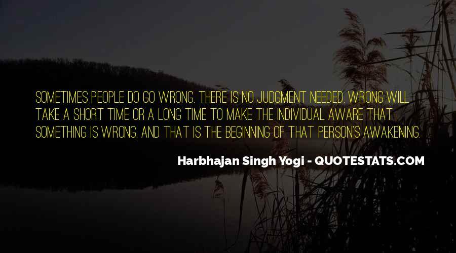 Harbhajan Yogi Quotes #67192
