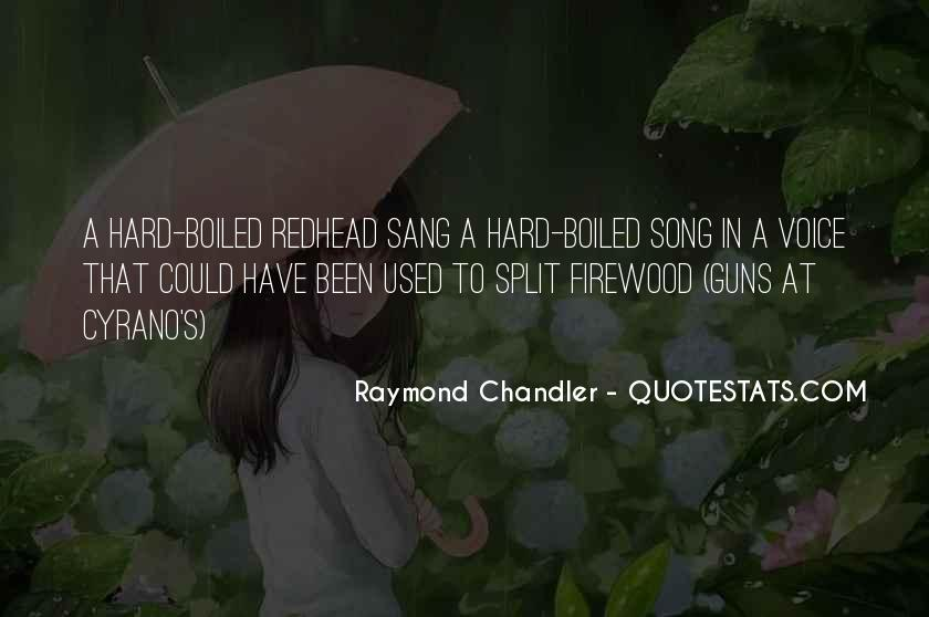 Hard Boiled Quotes #200186