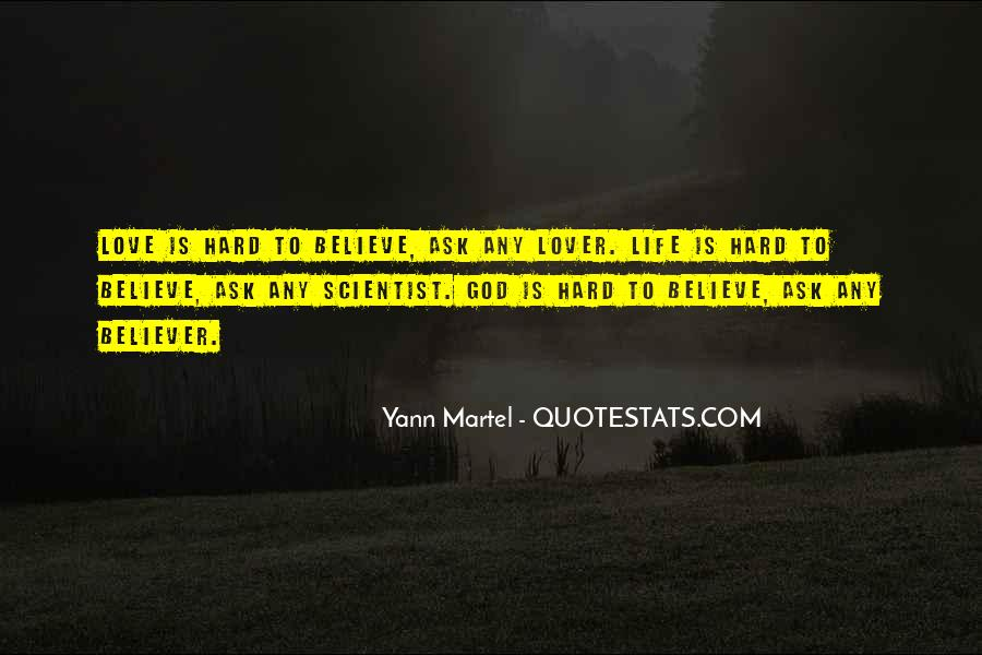 Hard Life God Quotes #1030988