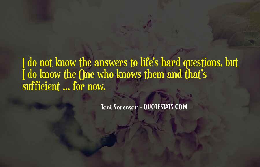 Hard Life God Quotes #1285772