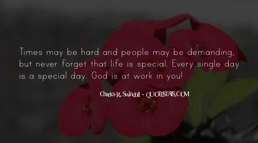 Hard Life God Quotes #1567139