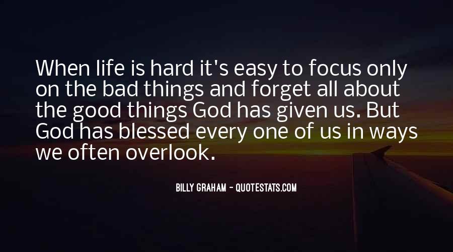 Hard Life God Quotes #567479