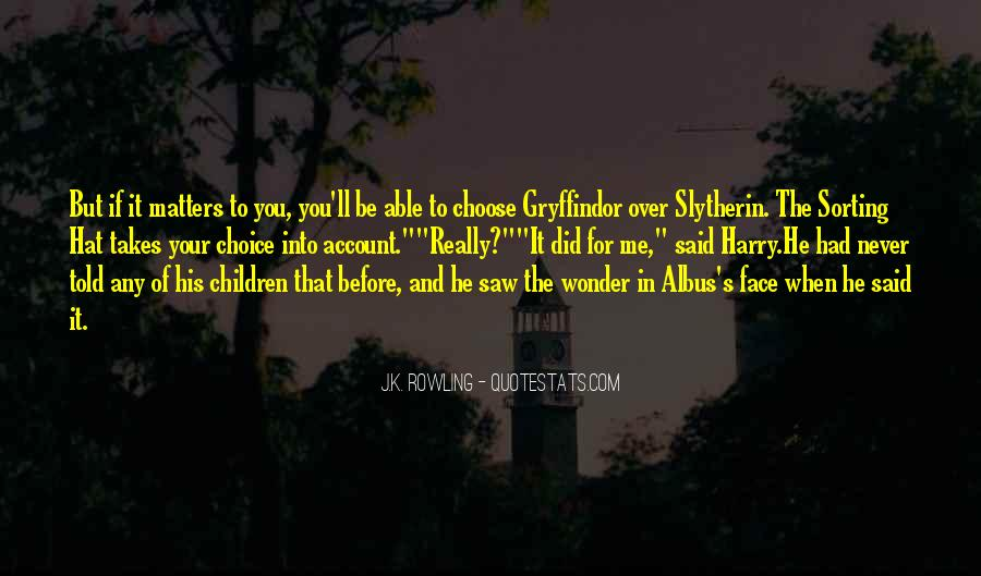 Harry Potter Sorting Quotes #435342