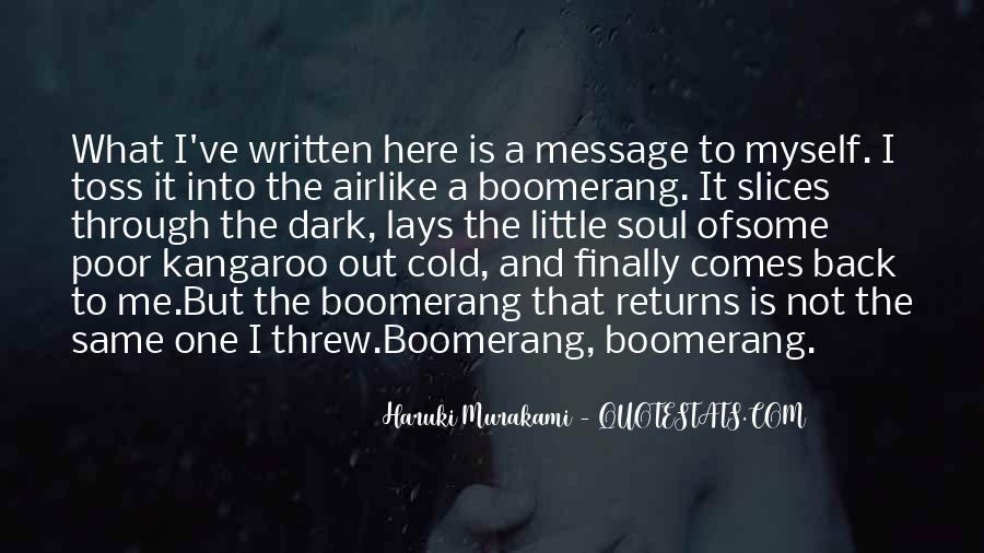 Haruki Murakami Sputnik Quotes #485452