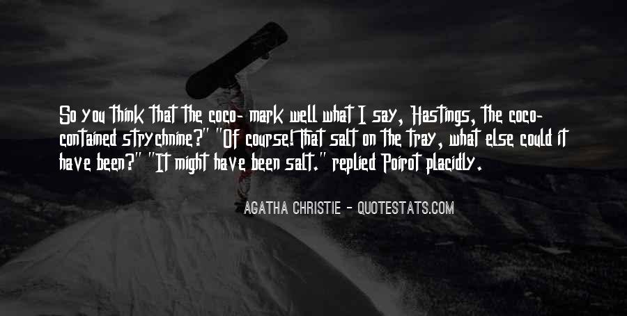 Hastings Poirot Quotes #1188996