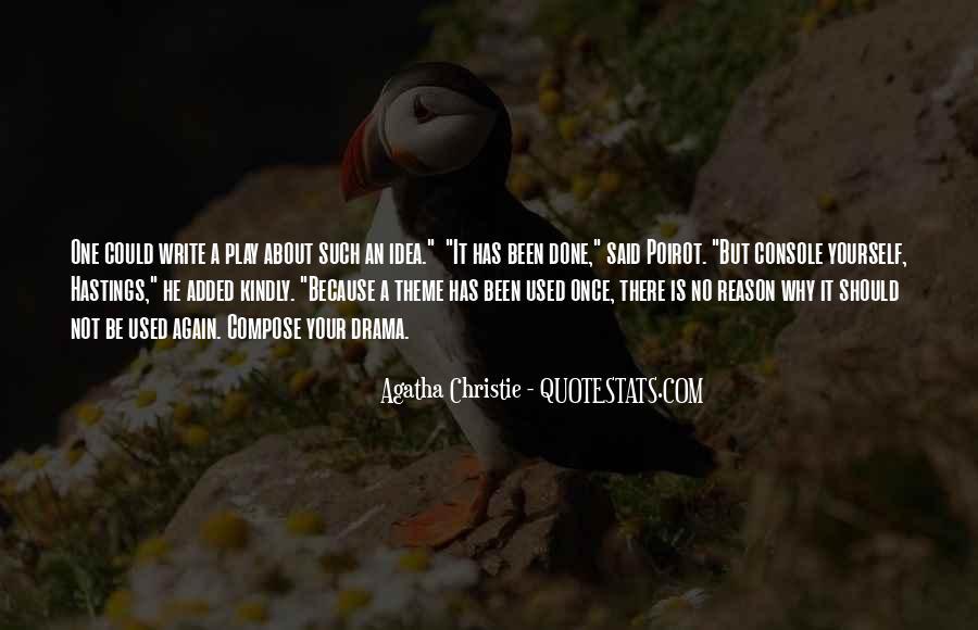 Hastings Poirot Quotes #510090