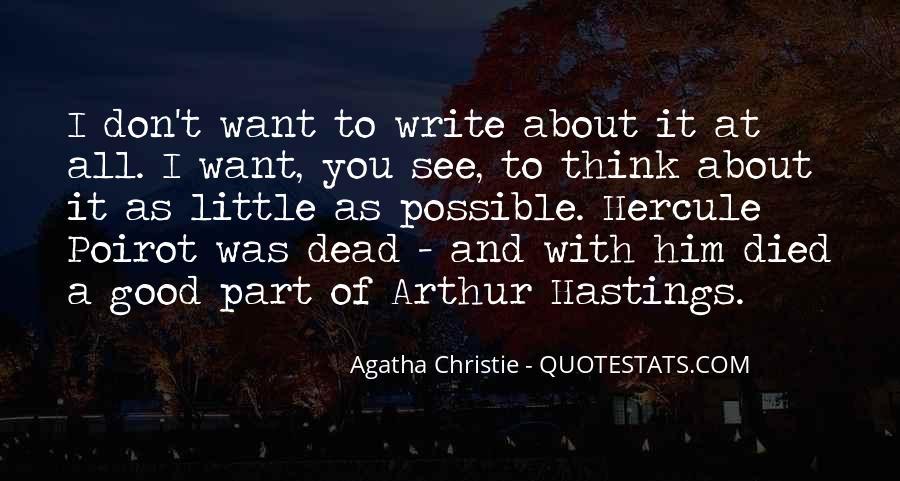 Hastings Poirot Quotes #970500
