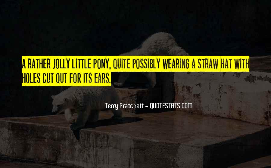 Hat Wearing Quotes #46526