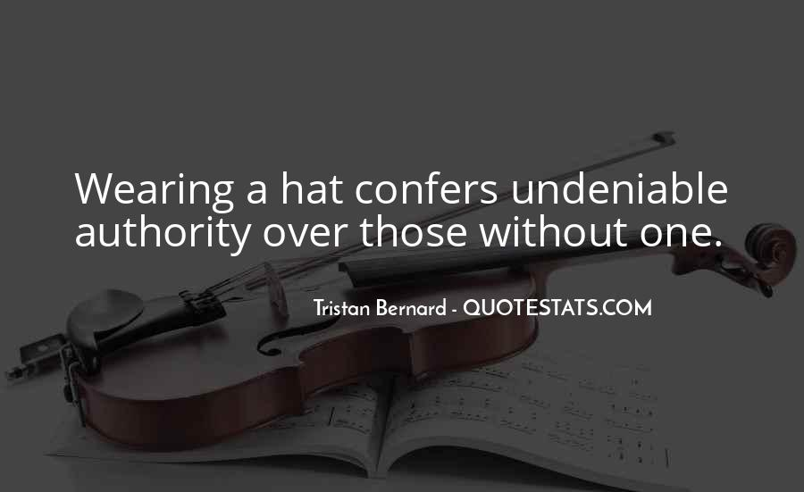 Hat Wearing Quotes #669075