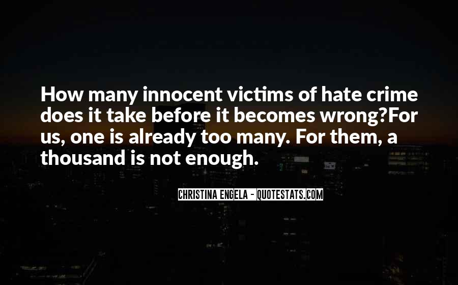 Hate Crime Quotes #1214899