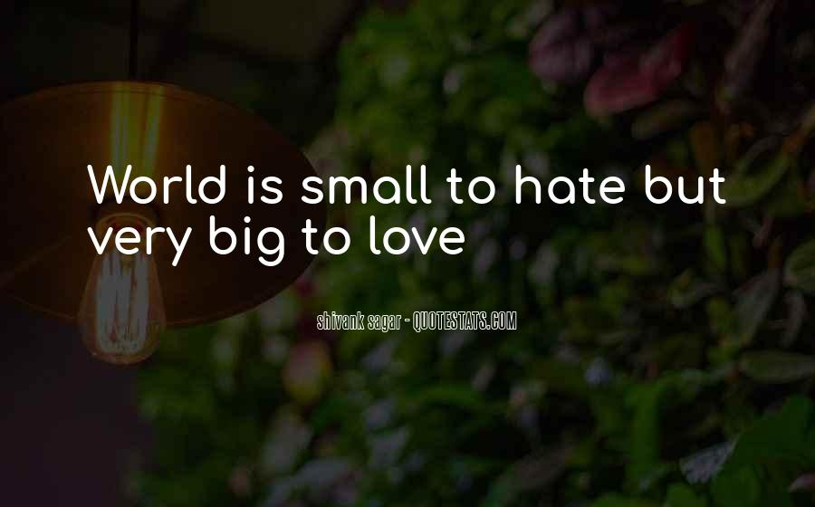 Hate Love Small Quotes #346036