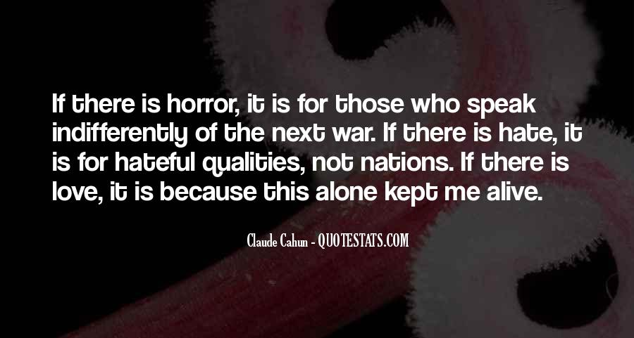 Hate To Be Alone Quotes #302871