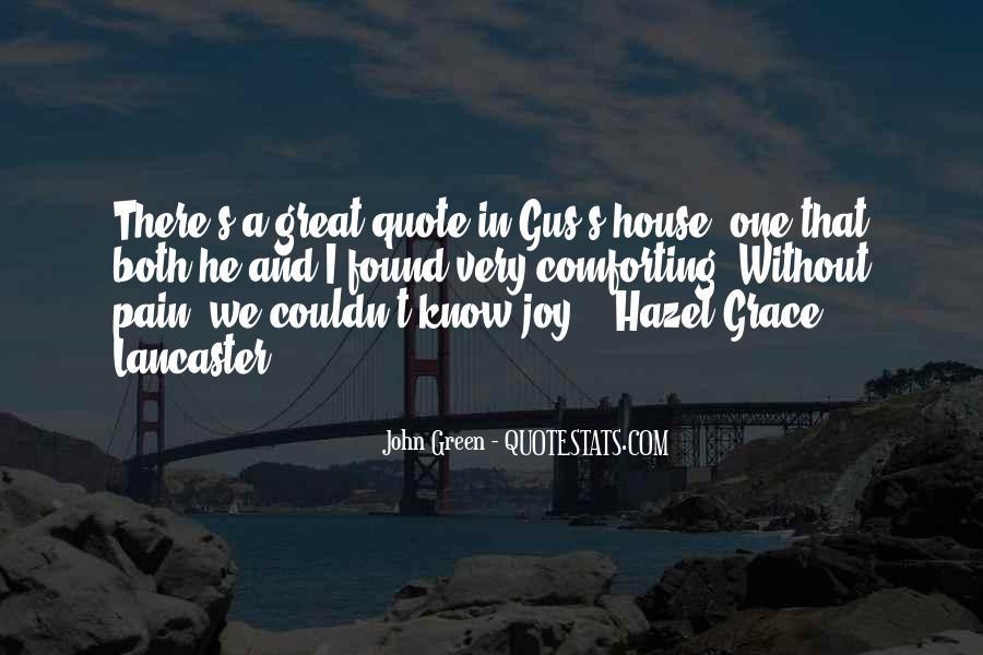 Hazel Lancaster Quotes #158460
