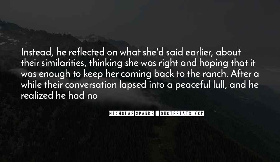 He's Coming Back Quotes #1249910