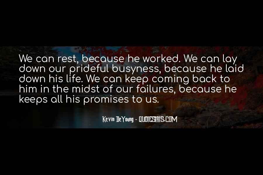 He's Coming Back Quotes #1478214