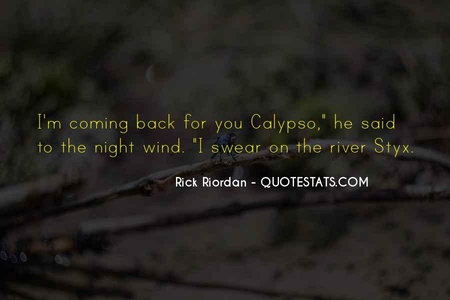 He's Coming Back Quotes #177903