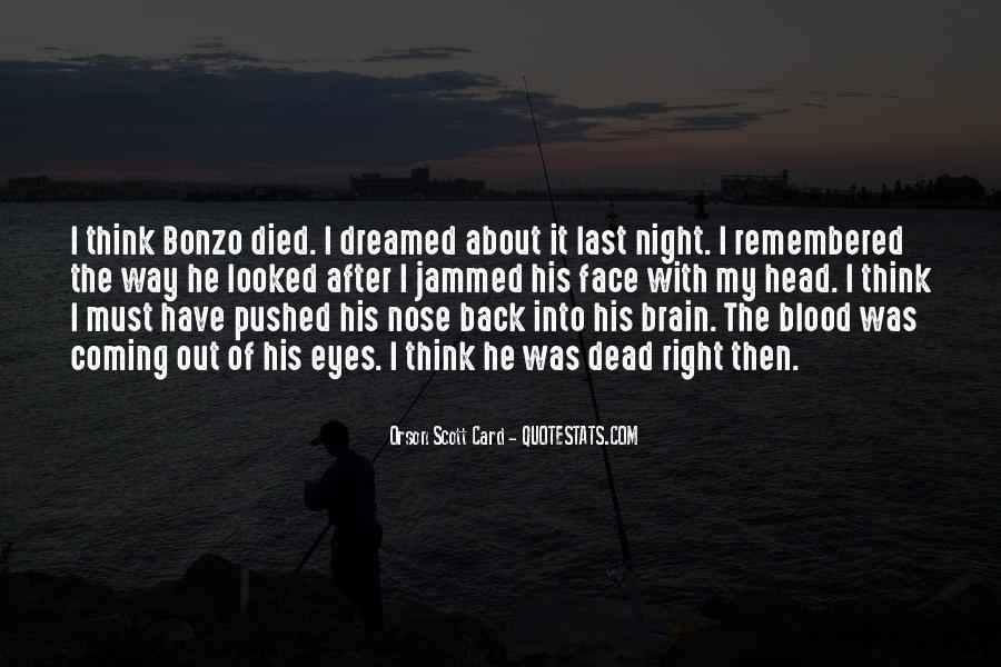 He's Coming Back Quotes #275804