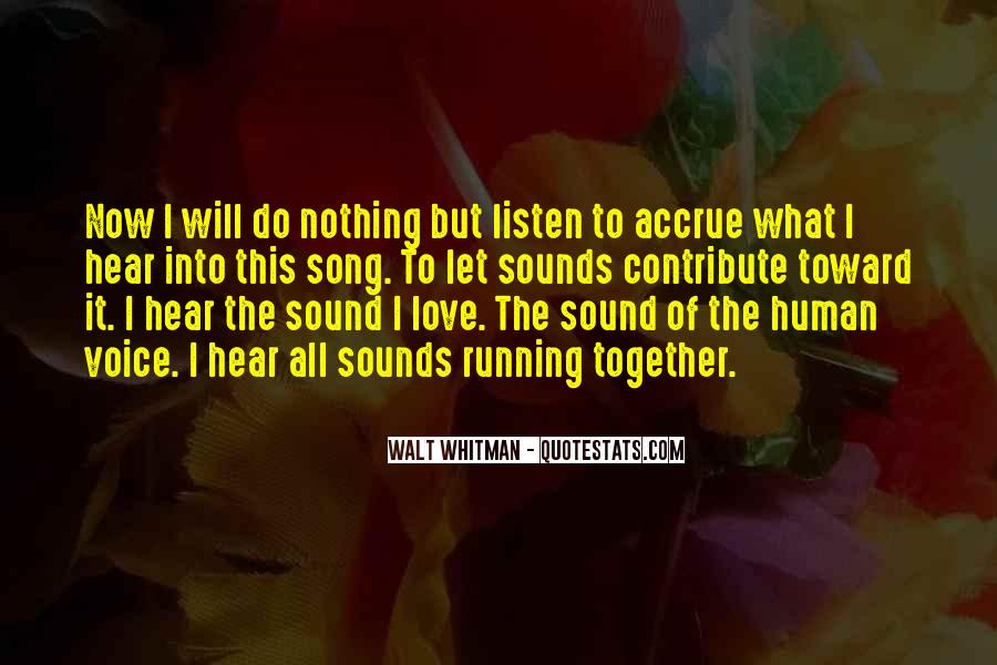 Hear Your Voice Love Quotes #1134311
