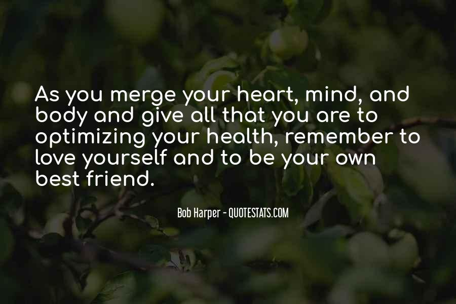 Heart And Health Quotes #1412062