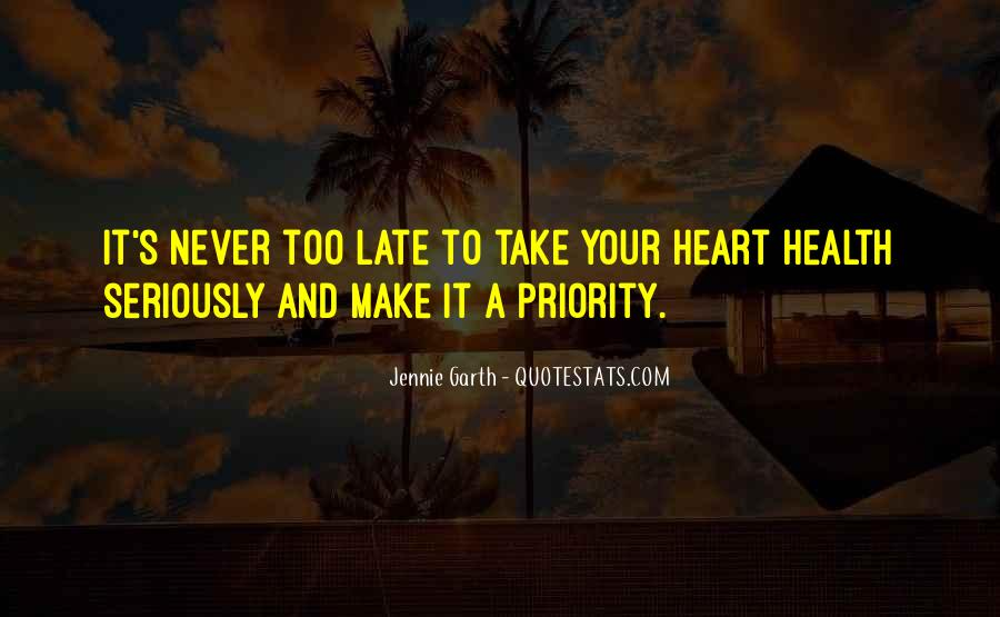 Heart And Health Quotes #1593435