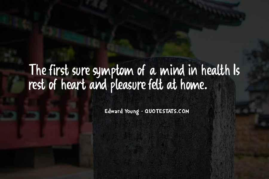 Heart And Health Quotes #1763188