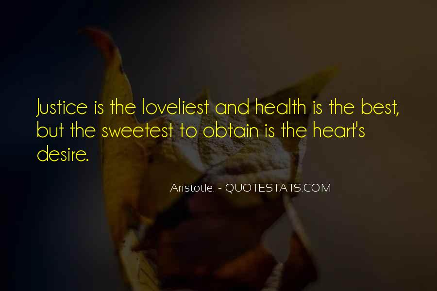 Heart And Health Quotes #431655