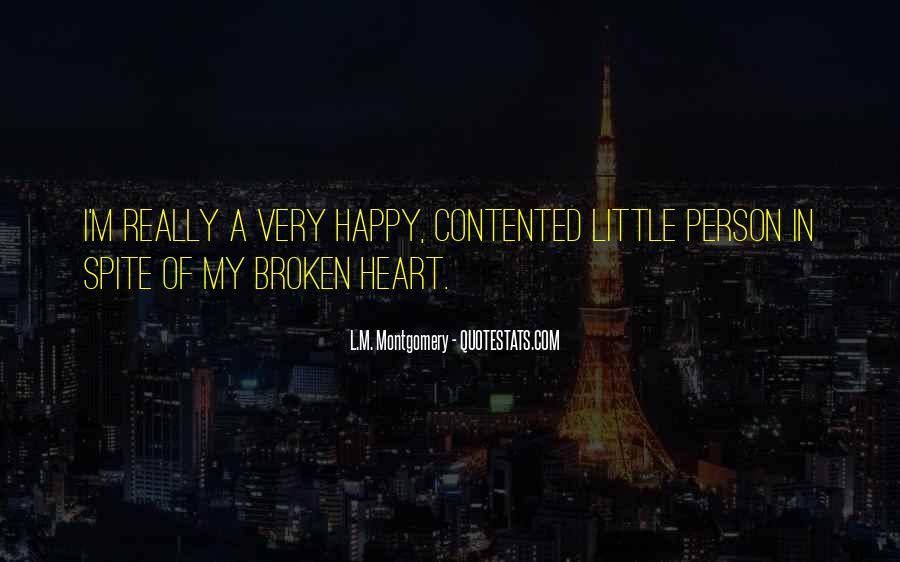 Heart Broken Happy Quotes #30843