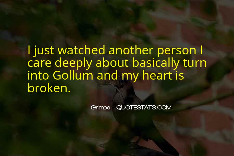 Heart Is Broken Quotes #12163