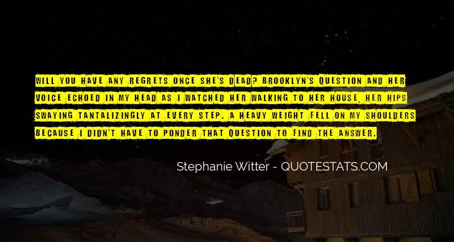Heavy Shoulders Quotes #1244060