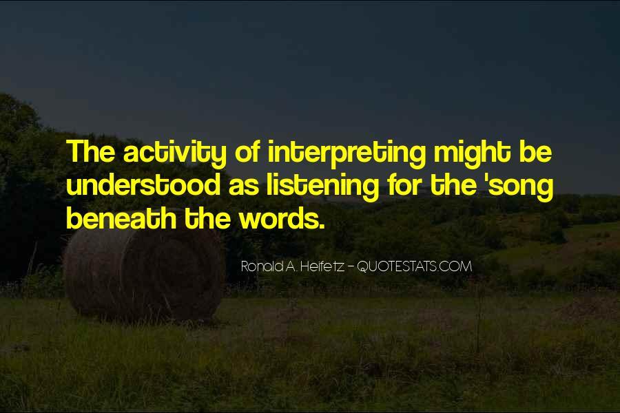 Heifetz Quotes #704993