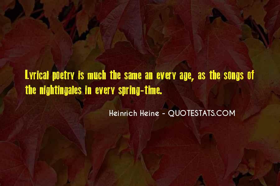 Heine Poetry Quotes #951309