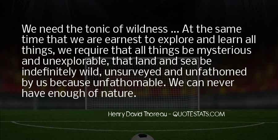 Henry David Thoreau Environment Quotes #555410