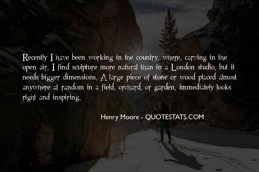 Henry Moore Sculpture Quotes #573850