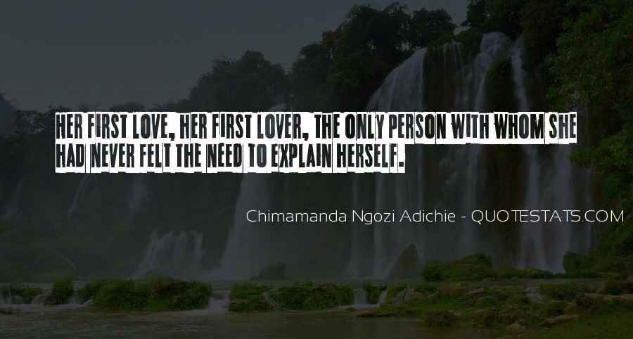 Her First Love Quotes #286012
