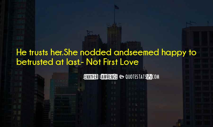 Her First Love Quotes #297207