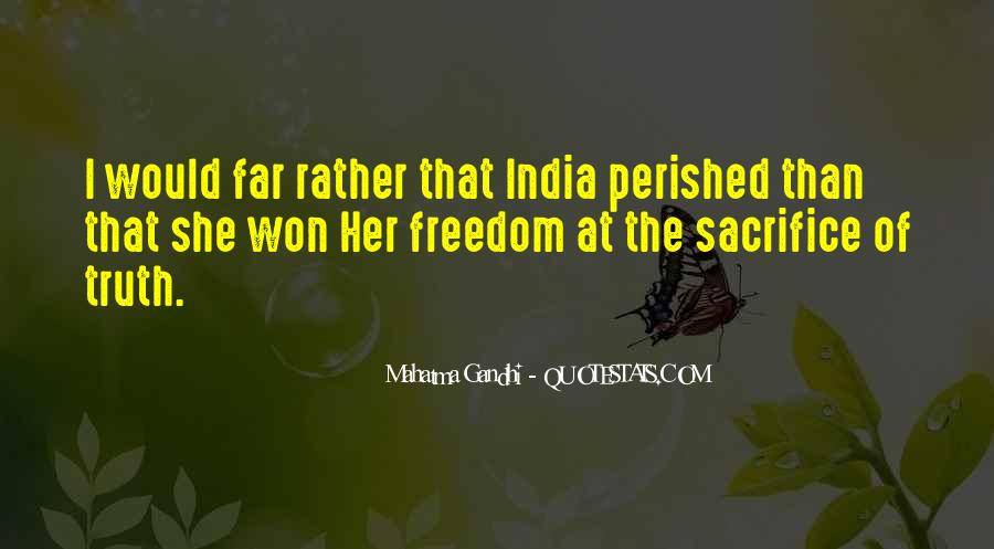 Quotes About Freedom Of India #1196488