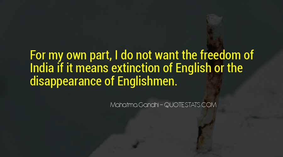 Quotes About Freedom Of India #261692