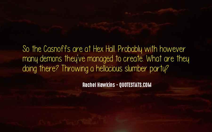 Hex Hall Rachel Hawkins Quotes #1687714