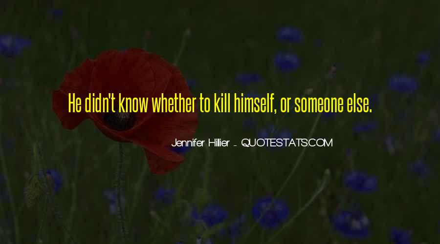 Hillier Quotes #1086280