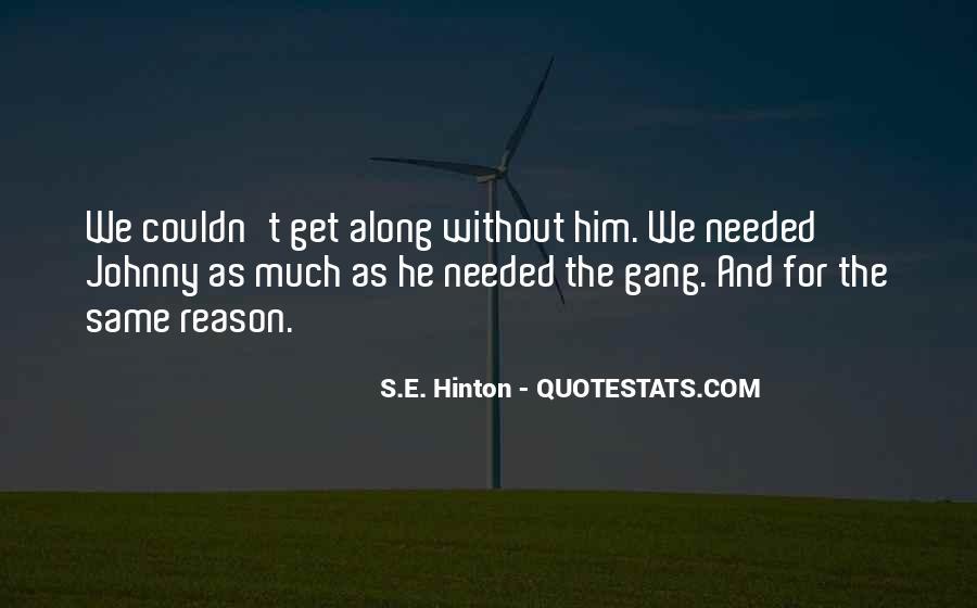 Hinton Quotes #984398
