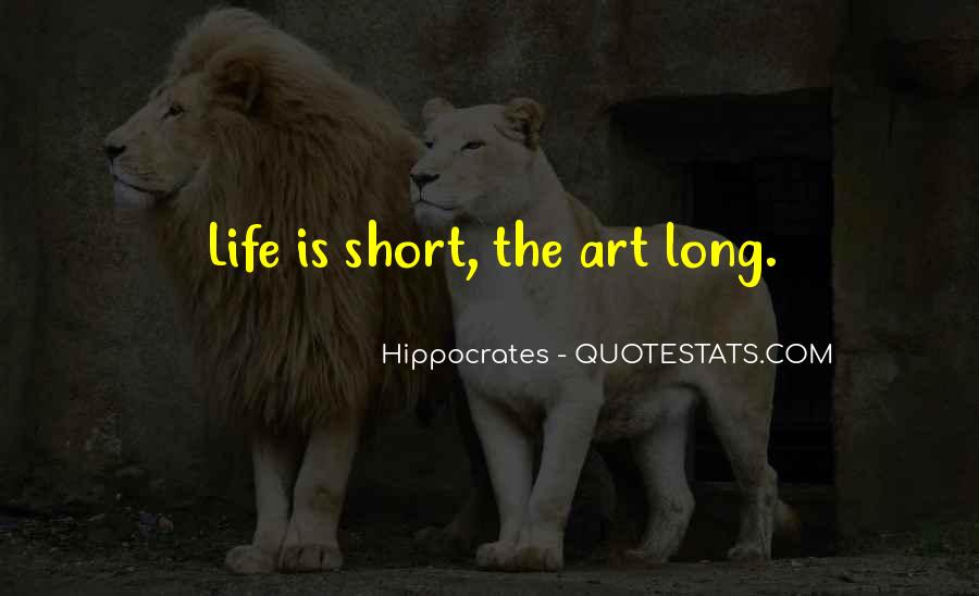 Hippocrates Of Cos Quotes #165874