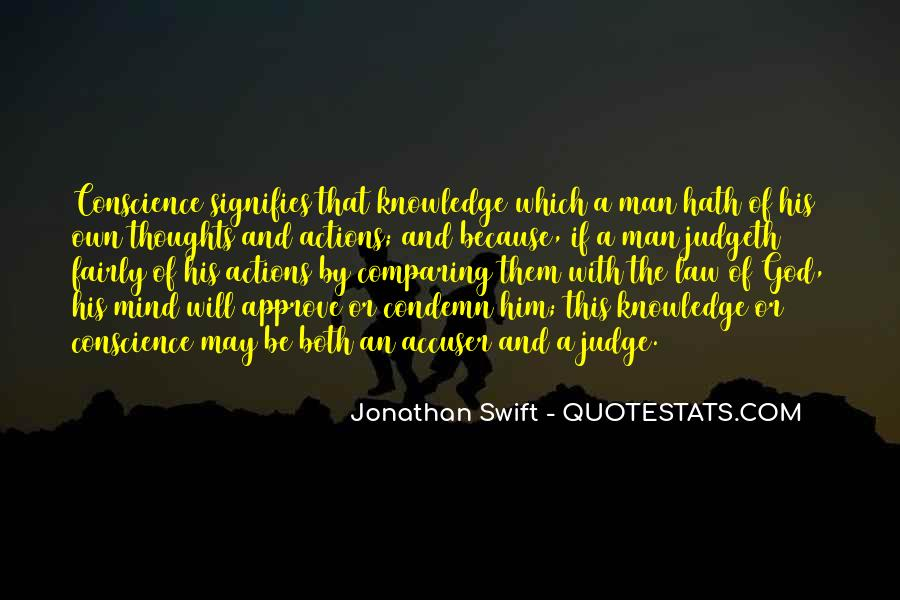 His Actions Quotes #12090