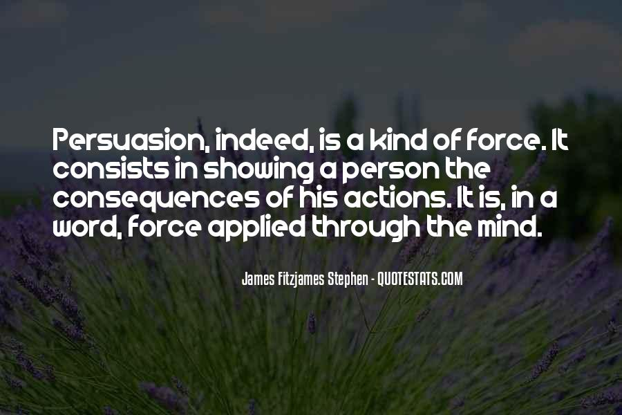 His Actions Quotes #151213
