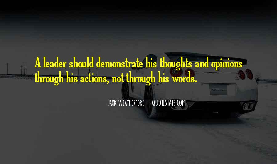 His Actions Quotes #157992