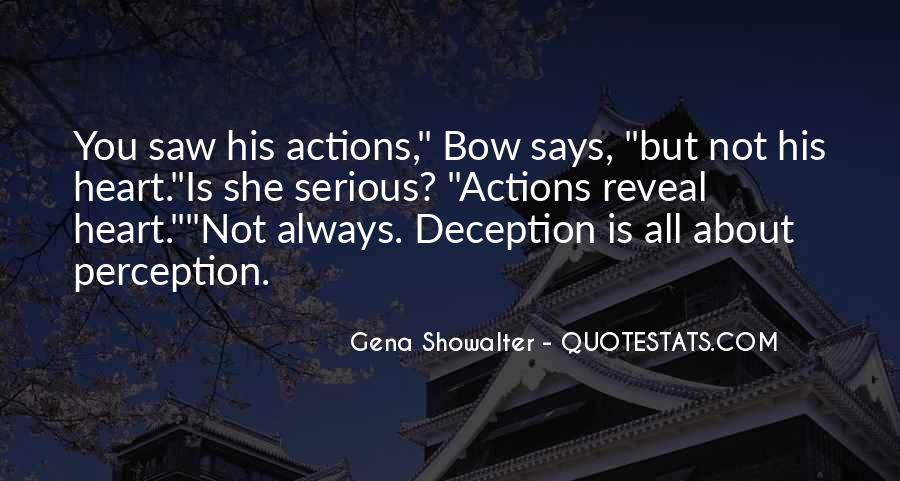 His Actions Quotes #216947