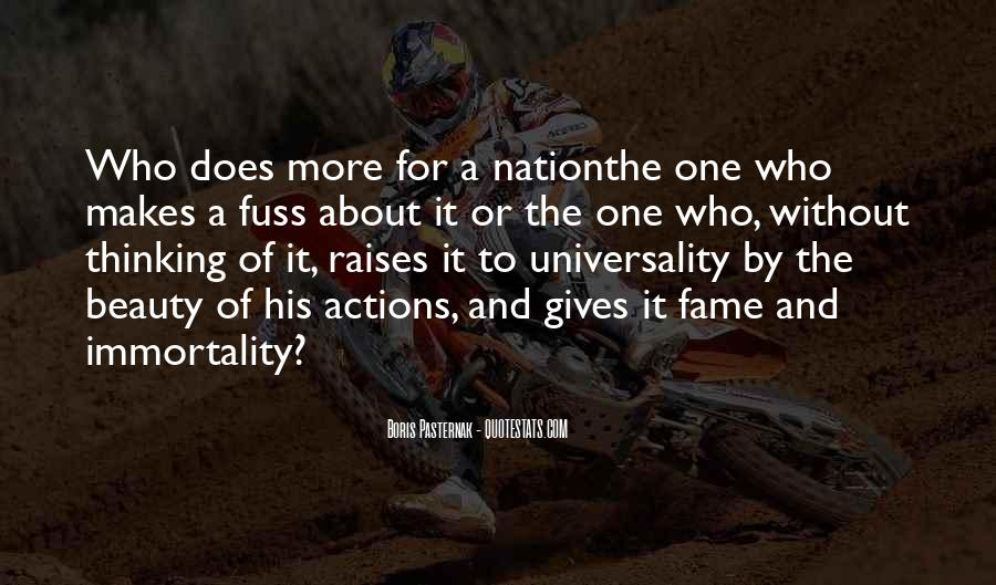 His Actions Quotes #290951