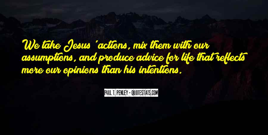 His Actions Quotes #330446