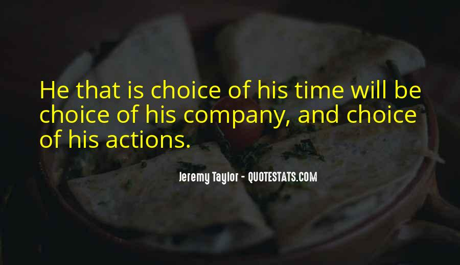 His Actions Quotes #346126