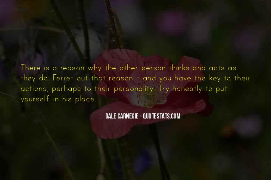 His Actions Quotes #88950