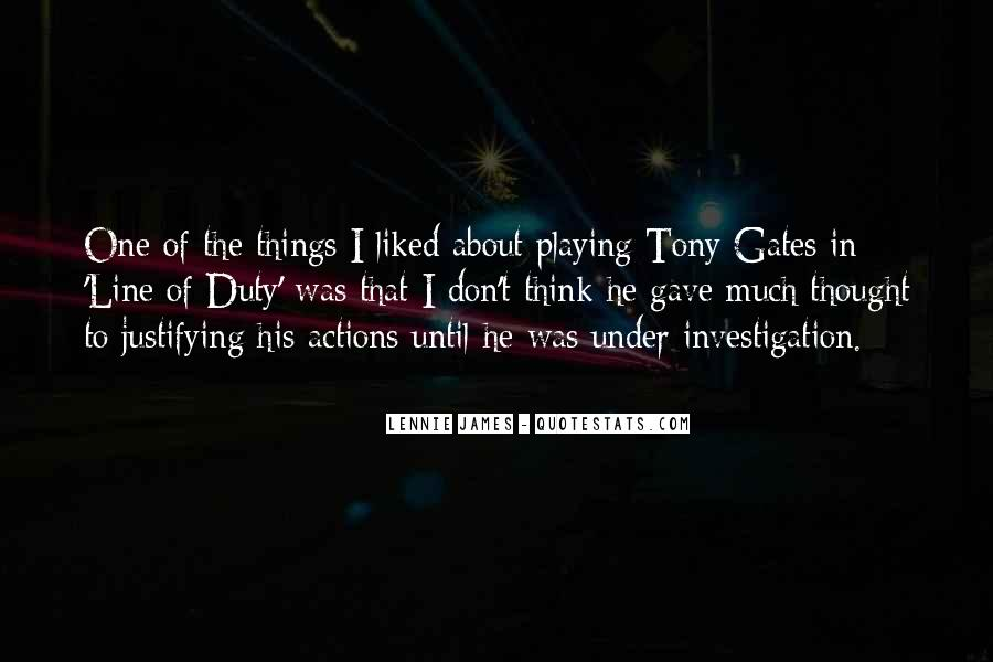 His Actions Quotes #97799
